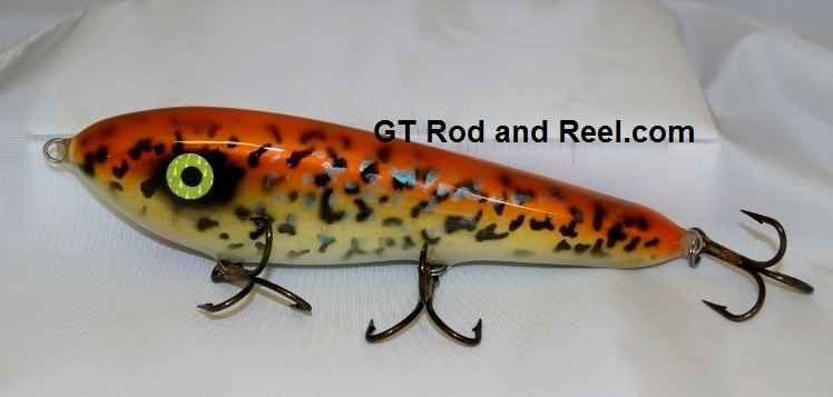 """Smuttly Dog Baits Lures 8"""" Drop Belly 8DB Musky Glide Bait  Color: Orange Crappie"""
