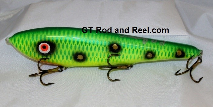 """Smuttly Dog Baits Lures 10"""" Drop Belly 10DB Musky Glide Bait  Color: Green Frog"""