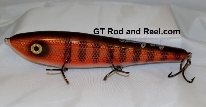 """Smuttly Dog Baits Lures 10"""" Drop Belly 10DB Musky Glide Bait  Color: Red Horse"""