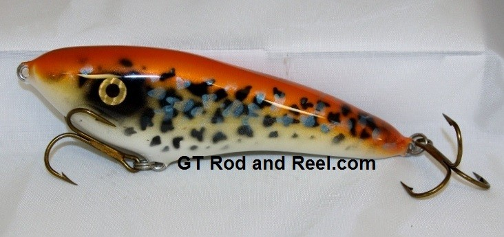 "Smuttly Dog Baits Lures 6"" Drop Belly, Color; Orange Crappie"
