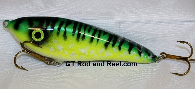 """Smuttly Dog Baits Lures 6"""" Drop Belly, Color; Glowing Green Tiger"""