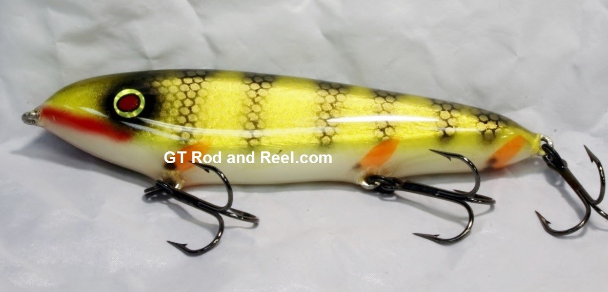"""Smuttly Dog Baits Lures 7"""" Minnow, Color; Red Gill Perch"""