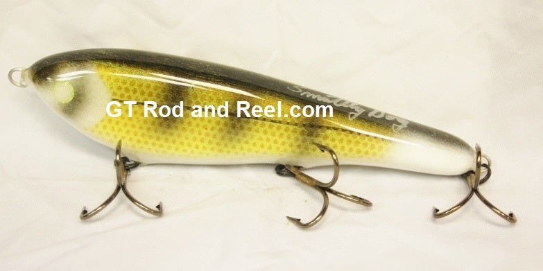 "Smuttly Dog Baits Lures 8"" Drop Belly 8DB Musky Glide Bait  Color: Wisconsin Walleye"