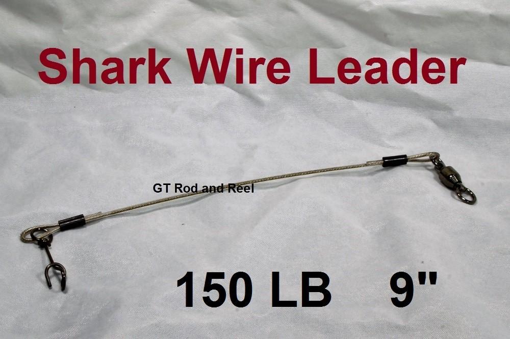 """150 LB EZ Clip Shark Wire Leader 7 Strand Nylon Coated Wire-9"""""""