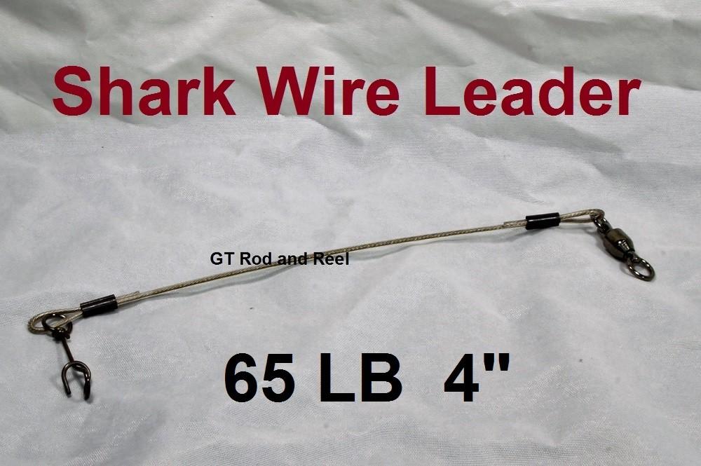 """65 LB EZ Clip Shark Wire Leader 7x7 49 Strand Nylon Coated Wire-4"""""""