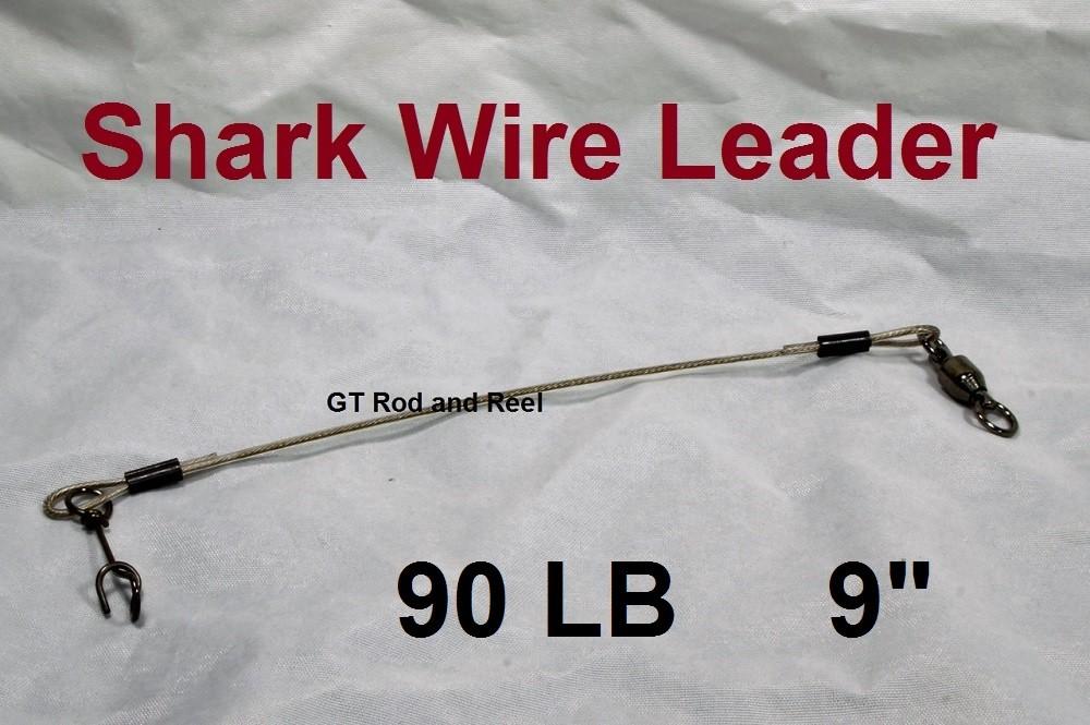 """90 LB EZ Clip Shark Wire Leader 7x7 49 Strand Nylon Coated Wire-9"""""""