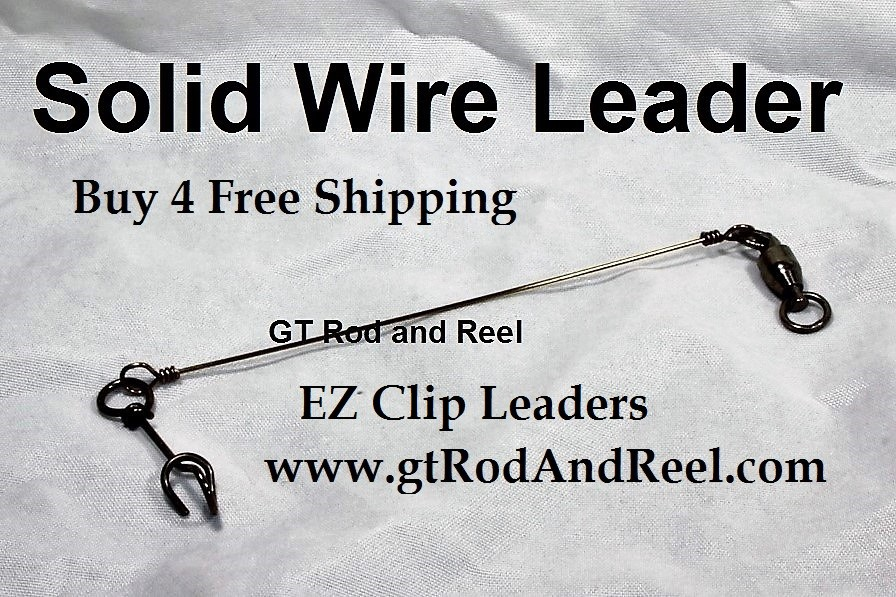 """150 LB EZ Clip Solid Wire Leader 9"""""""