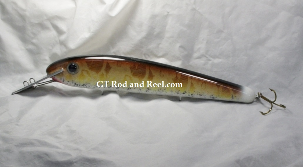 Pearson Plugs Lucky 13 Reef Buster, Strong Aluminum Lip Walleye