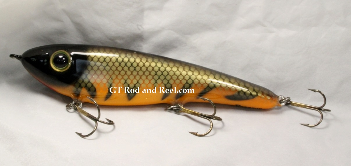 """Pearson Plug 8"""" Trophy Hunter Color, Flaming Musky"""