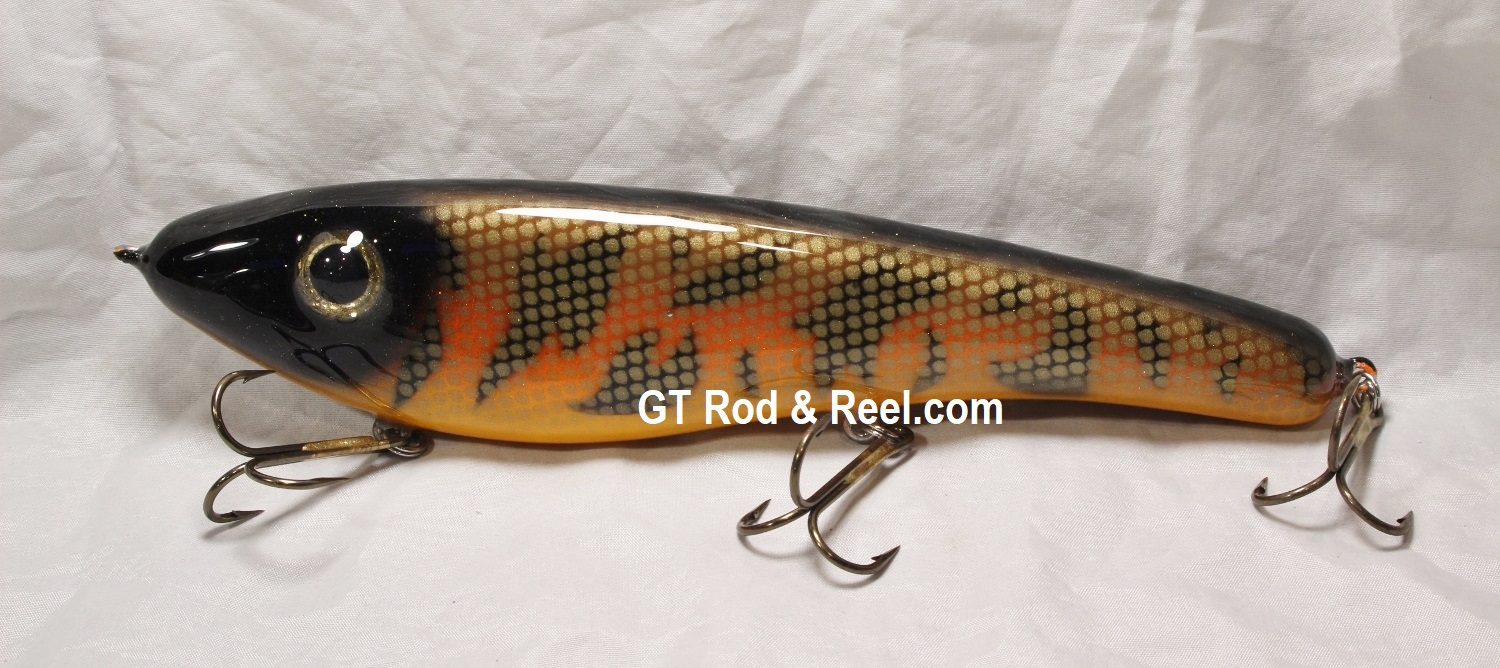 """Pearson Plug 10"""" Trophy Hunter Color, Hot Muskie"""