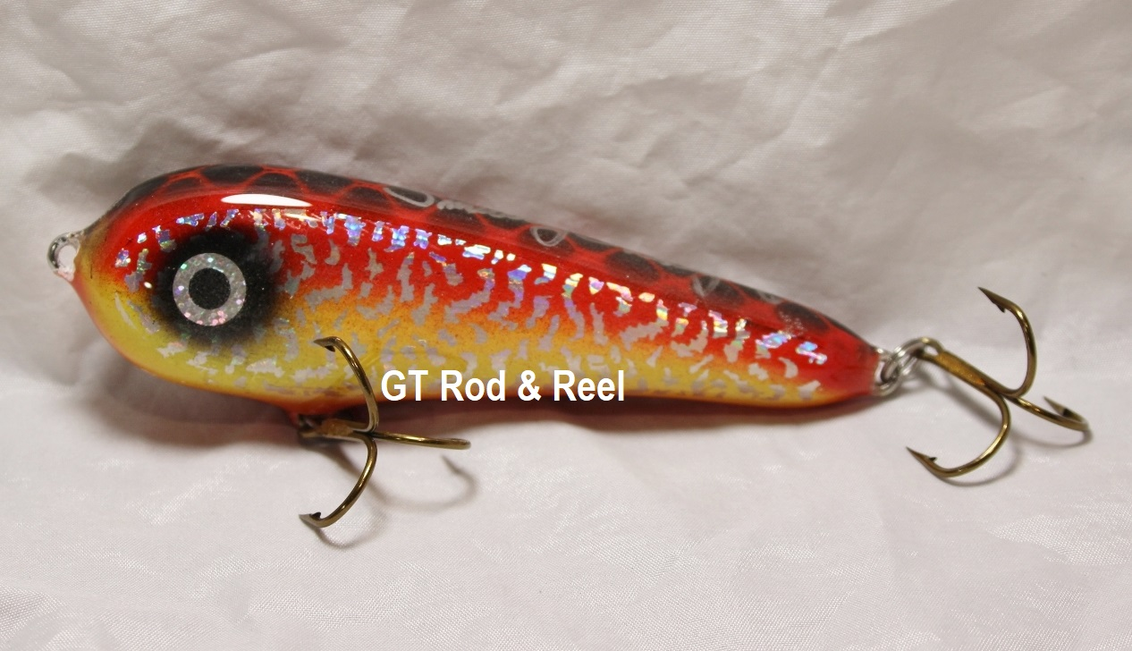 """Smuttly Dog Baits Lures 5"""" Stubby C, Color; Bloody Mary"""