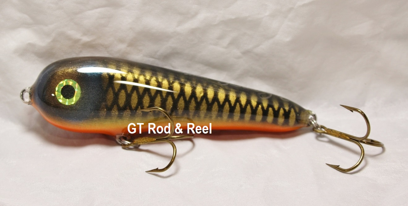 """Smuttly Dog Baits Lures 5"""" Stubby C, Color; Orange Belly Carp"""