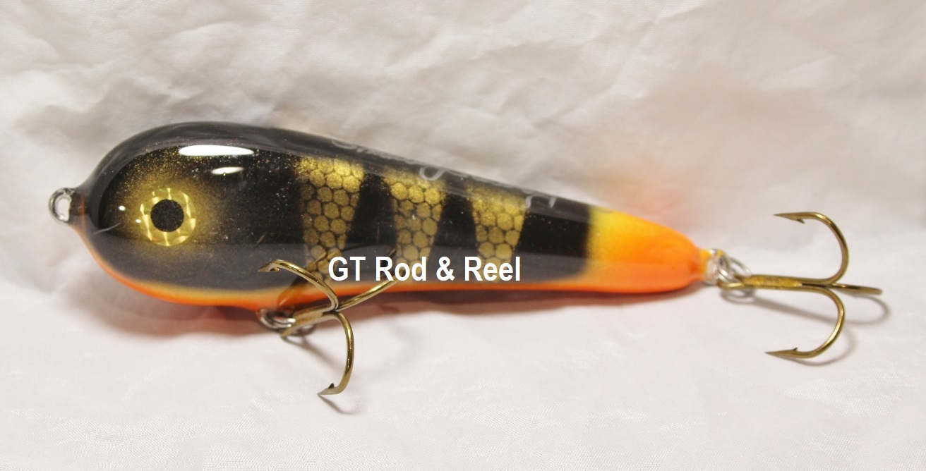 """Smuttly Dog Baits Lures 5"""" Stubby C, Color; Tri-Point"""
