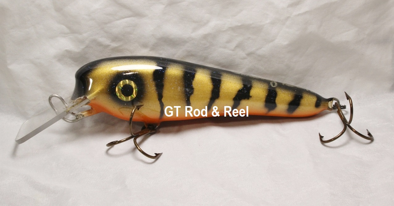 "Smuttly Dog Baits 6"" Troller/Crankbait Color Bronze Perch"