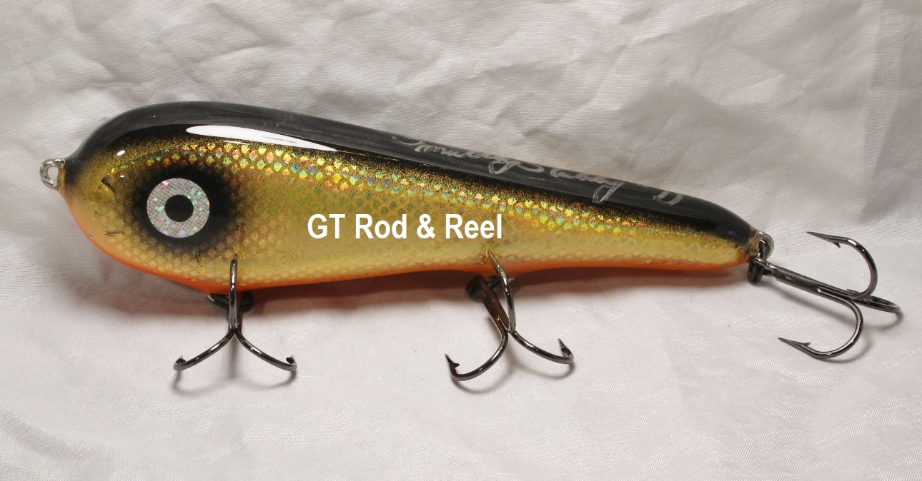 """Smuttly Dog Baits Lures 7"""" Stubby D, Color; Flashing Bronze Shiner"""