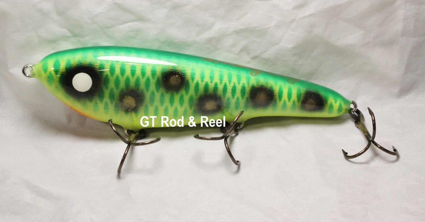 """Smuttly Dog Baits Lures 7"""" Drop Belly, Color; Green Frog"""