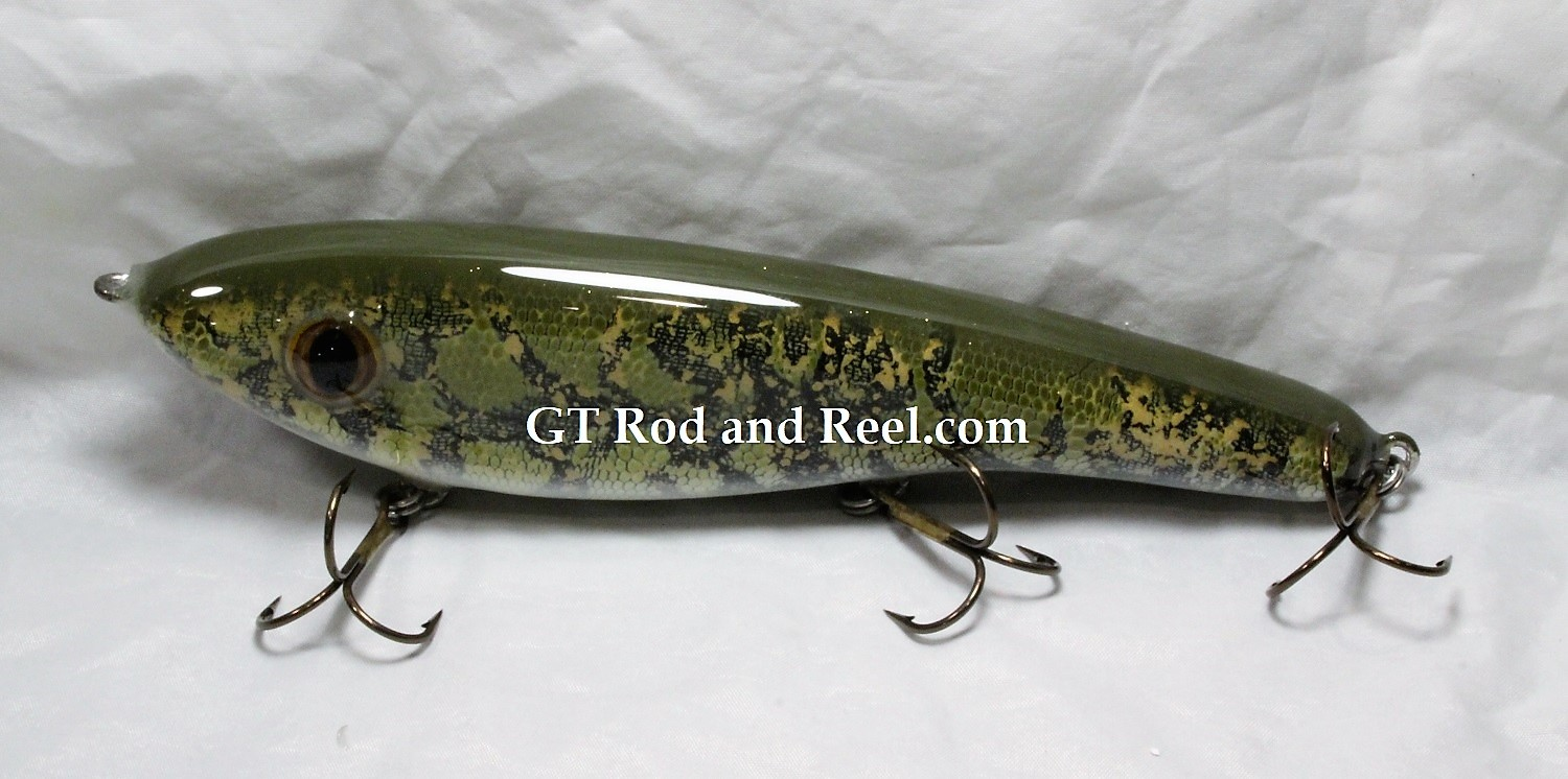 """Pearson Plug 8"""" Trophy Hunter Color, Lake Of The Woods Walleye"""