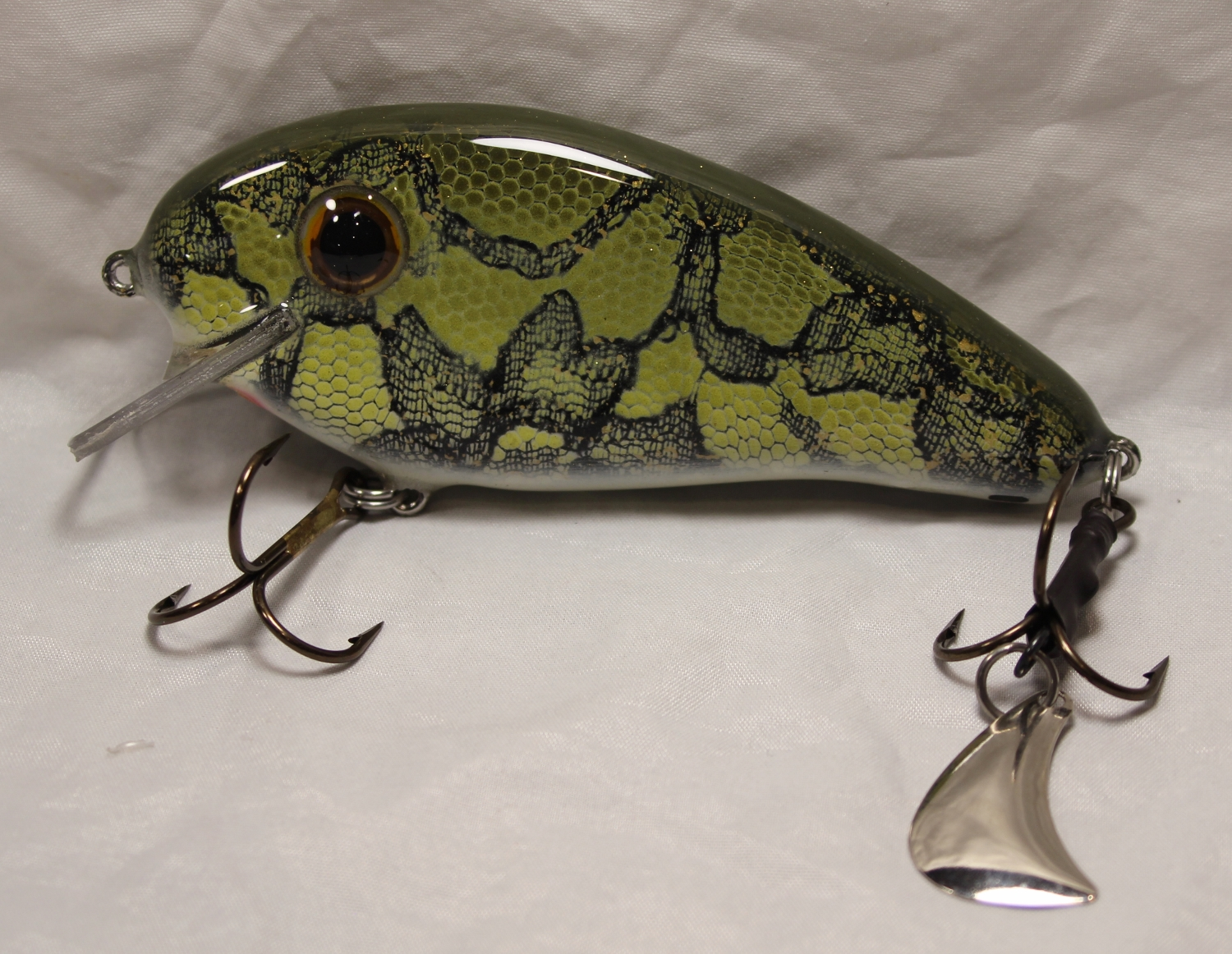 """Pearson Plugs 5"""" Rattling Super Shallow Shad with Hatchet Trailer, Lake Of The Woods Walleye"""