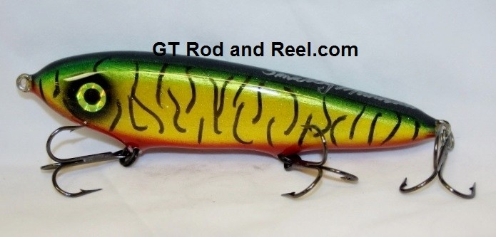 """Smuttly Dog Baits Lures 7"""" Minnow, Color; Blood Belly Sparkling Tiger"""