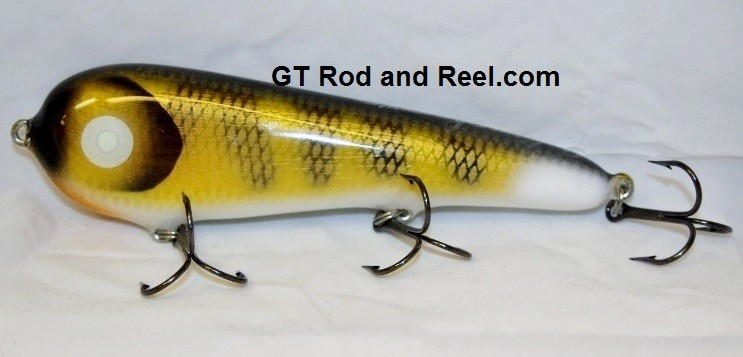 """Smuttly Dog Baits Lures 7"""" Stubby D, Color; Walleye"""