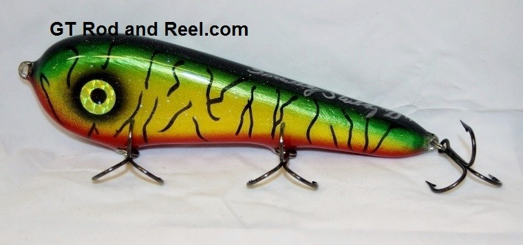"Smuttly Dog Baits Lures 7"" Stubby D, Color; Blood Belly Sparkling Tiger"