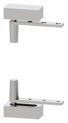 Hager Pivot Hinge 551 US26D Satin Chrome