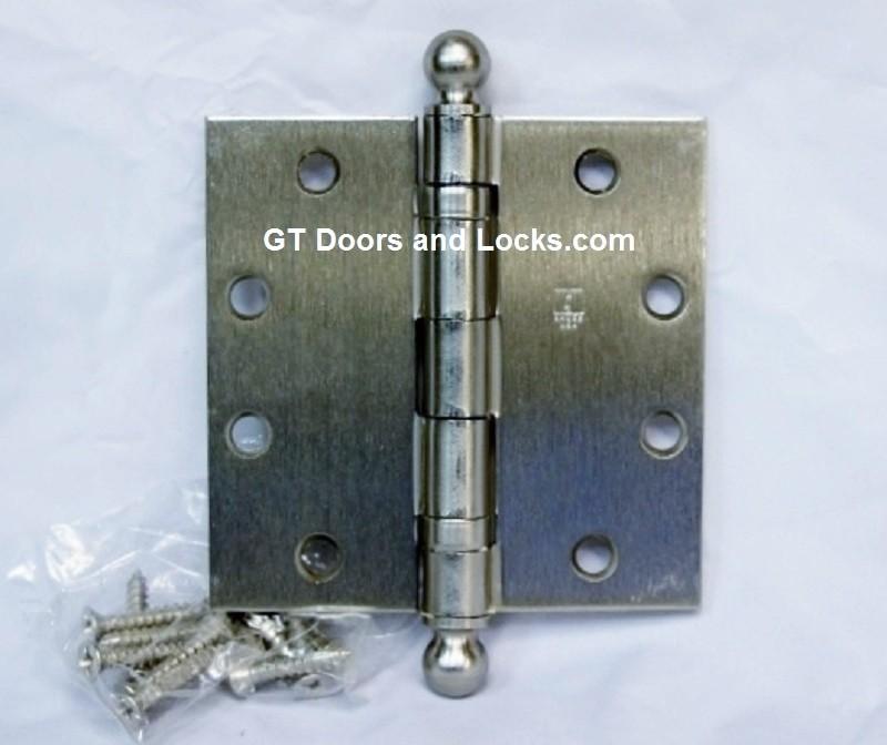 BB1279-US15-4.5x4.5 w/ Ball Tips Satin Nickel