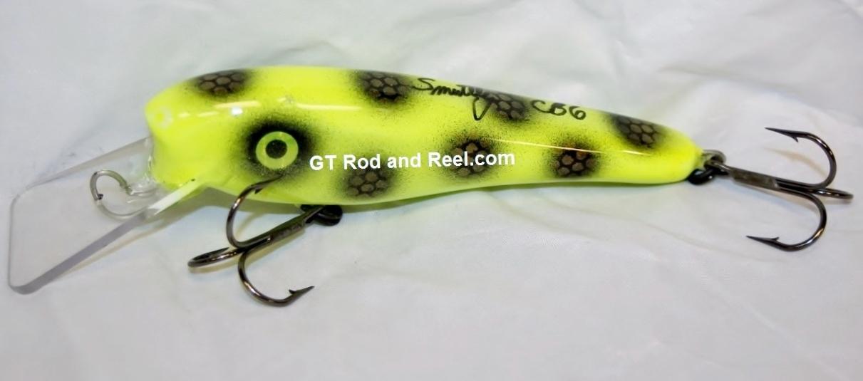 """Smuttly Dog Baits 6"""" Troller/Crankbait Color Chartreuse Moose"""
