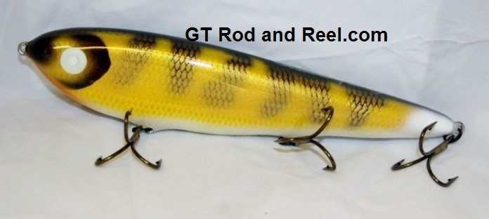 """Smuttly Dog Baits Lures 10"""" Drop Belly 10DB Musky Glide Bait  Color: Walleye"""