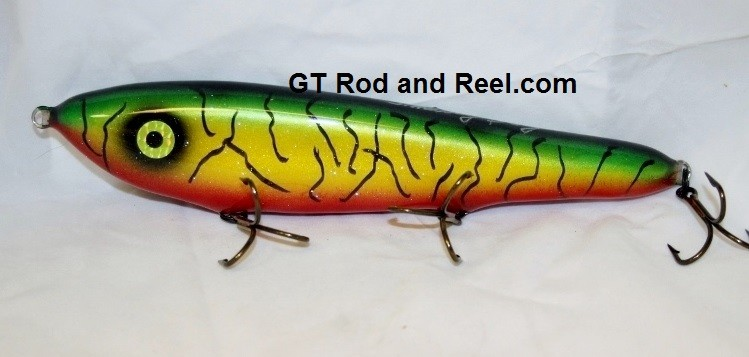 "Smuttly Dog Baits Lures 10"" Drop Belly 10DB Musky Glide Bait  Color: Blood Belly Sparkling Tiger"