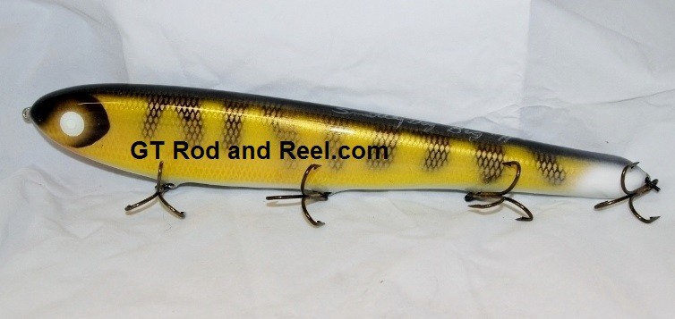 """Smuttly Dog Baits Lures 15"""" Big """"H""""  Musky Glide Bait  Color: Walleye"""