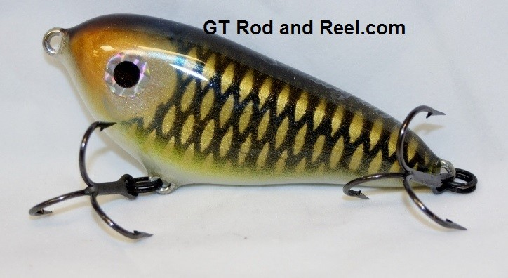 """Smuttly Dog Baits Lures 4"""" Drop Belly, Color; Grass Carp"""