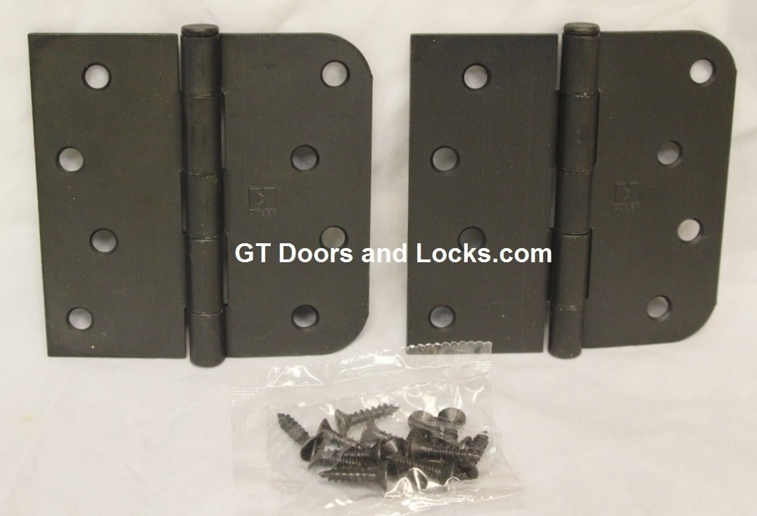 "Hager Hinges RC1847-1848 5/8 Radius x Square Corner 4"" x 4"" US10r Oil Rubbed Bronze 2 Each Hinges"