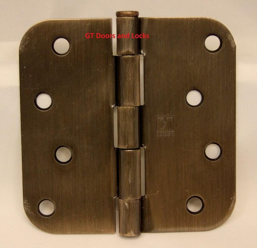 "Hager Rc1842 Hinge 4"" x 4"" Antique Bronze (Venetian Bronze) 5/8"" Radius Corner"