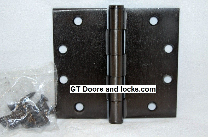 """Hager WT1279 Hinge 1 Each 4-1/2"""" x 5"""" Square Corner US10d Black Bronze Oiled Hager Wide Throw Hinges"""