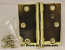 "Hager 1279 Hinge 1 Each 3-1/2"" x 3-1/2"" Square Corner US3 Polished Brass"