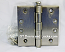 "Hager Hinge 1279 4"" x 4"" Square Corner Hinges Satin Nickel US15"
