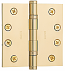 "Baldwin Hinges 1046 Ball Bearing 4.5"" x 4.5"" Lifetime Brass"