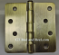 "Hager Hinges RC1741 4"" x 4"" Antique Brass"