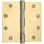"Baldwin Hinges 1046 Ball Bearing 4.5"" x 4.5"" Polished Brass"