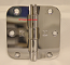 "Hager RC1842 Hinge 3-1/2"" x 3-1/2"" Bright Chrome 5/8"" Radius Corner"