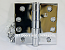 "Hager Hinge 1279 4"" x 4"" Square Corner Hinges Bright Chrome US26"
