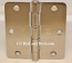 "Hager Hinges RC1741 3.5"" x 3.5"" us15 Satin Nickel 1/4"" Radius Hinge"