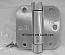 "Hager Hinges 1752 5/8"" Radius US26d Satin Chrome 3.5"" x 3.5"" r7189 426r Self Closing Hinge Self Closing Hinge"