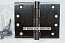 """Hager WT1279 Hinge 1 Each 4"""" x 5"""" Square Corner US10D Black Bronze Oiled Hager Wide Throw Hinges"""