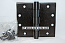"Hager WT1279 Hinge 1 Each 4-1/2"" x 5"" Square Corner US10d Black Bronze Oiled Hager Wide Throw Hinges"