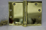 "Hager WT1279 Hinge 1 Each 4-1/2"" x 6"" Square Corner US3 Polished Brass Hager Wide Throw Hinges"