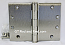 "Hager WT1279 Hinge 1 Each 4-1/2"" x 6"" Square Corner US15 Satin Nickel Hager Wide Throw Hinges"