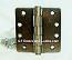 """Hager RC1279 Hinge 1 Each 4"""" x 4"""" 1/4"""" Radius Hinges US5 Antique Brass"""