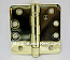 "Hager RCBB1279 Hinge 1 Each 4"" x 4"" 1/4"" Radius Ball Bearing Hinges US3 Bright Brass"